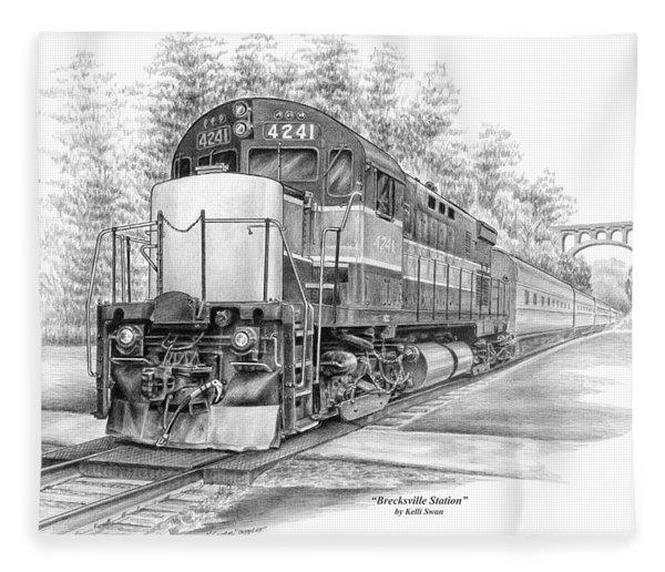 Brecksville Station - Cuyahoga Valley National Park Fleece Blanket