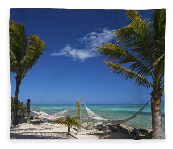 Breezy Island Life Fleece Blanket