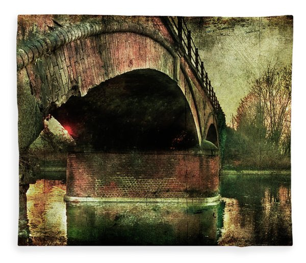 Bridge Over The Canal Fleece Blanket