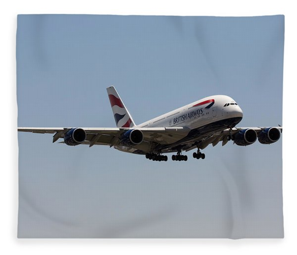 British Airways A380 Fleece Blanket