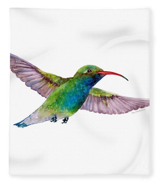 Broad Billed Hummingbird Fleece Blanket