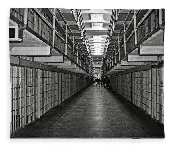Broadway Walkway In Alcatraz Prison Fleece Blanket