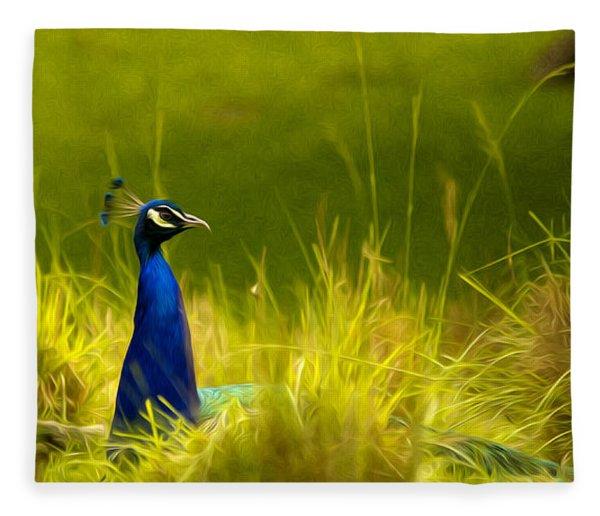 Bronx Zoo Peacock Fleece Blanket