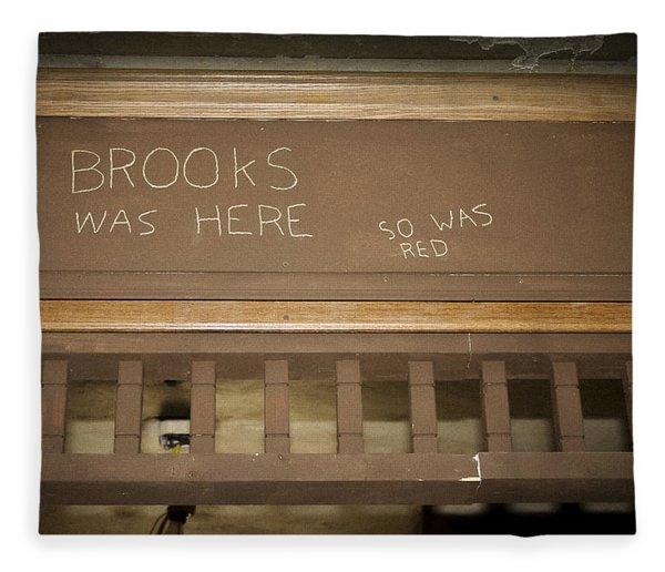 Brooks Was Here Fleece Blanket