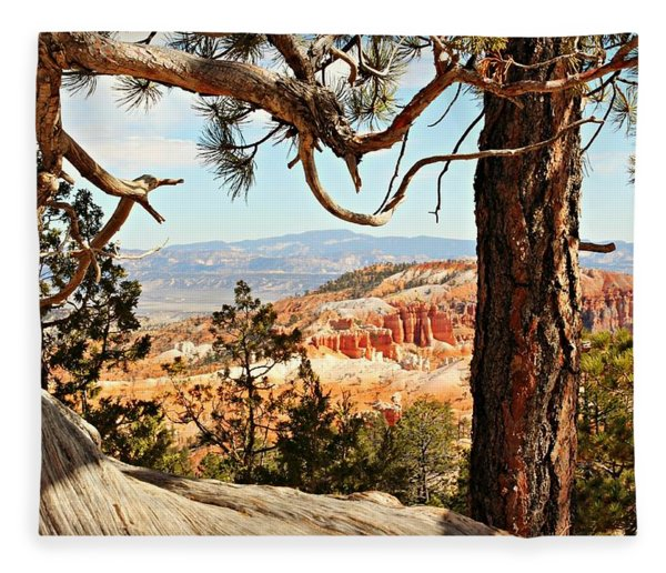Bryce Canyon Through The Trees Fleece Blanket