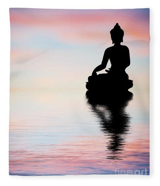 Buddha Reflection Fleece Blanket