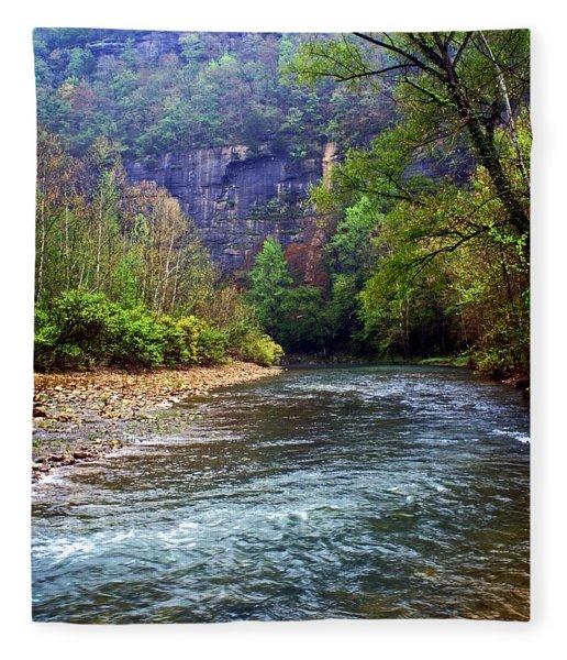 Buffalo River Downstream Fleece Blanket