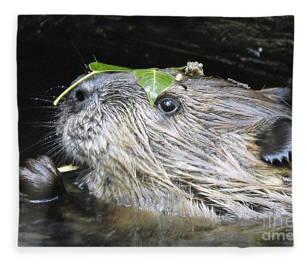 Busy Beaver Fleece Blanket