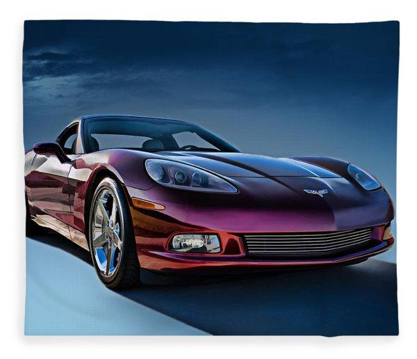 C6 Corvette Fleece Blanket
