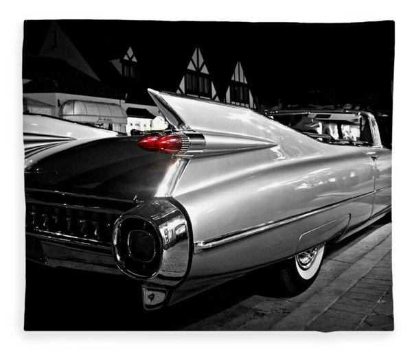 Cadillac Noir Fleece Blanket