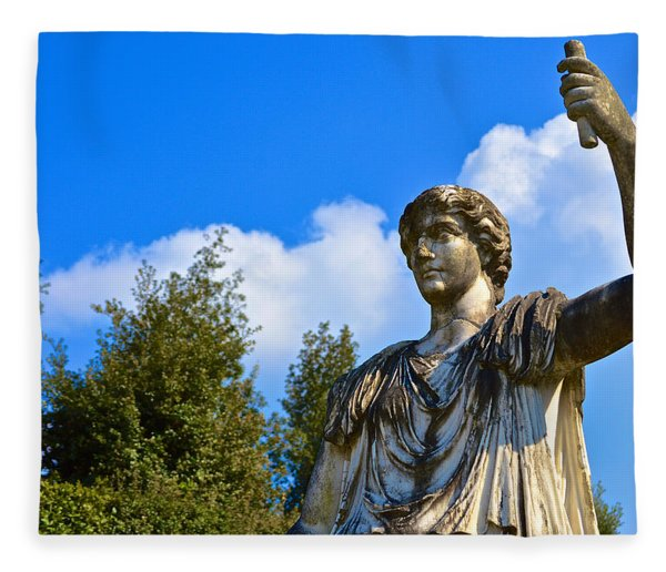 Caesar On Blue Sky Fleece Blanket