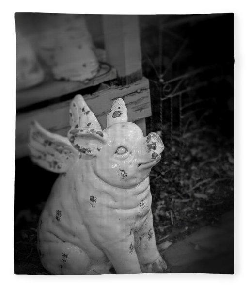 Can A Pig Fly? Fleece Blanket