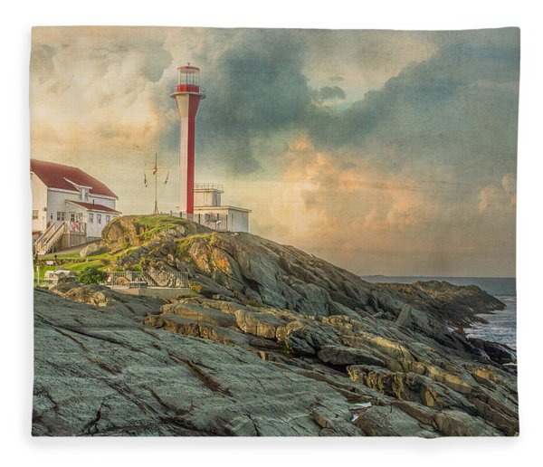 Fleece Blanket featuring the photograph Cape Forchu  by Garvin Hunter