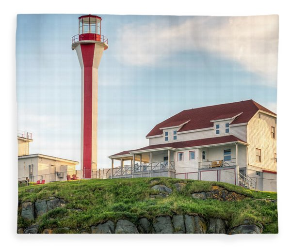 Fleece Blanket featuring the photograph Cape Forchu Lighthouse by Garvin Hunter