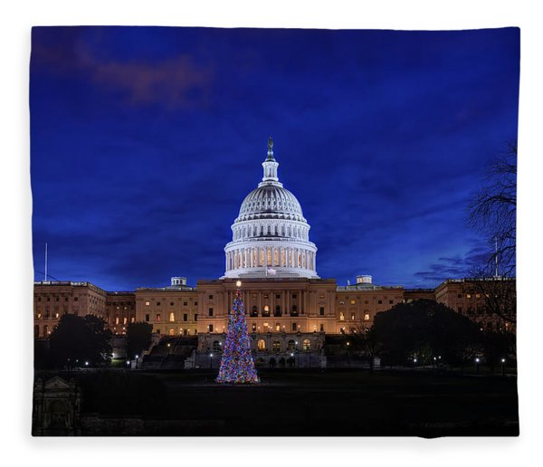 Capitol Christmas - 2013 Fleece Blanket