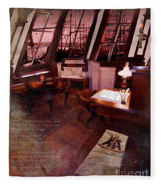 Captain's Cabin On The Dicey Fleece Blanket