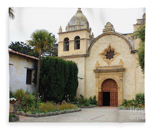Carmel Mission Church Fleece Blanket