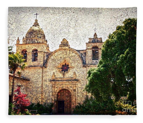 Carmel Mission Fleece Blanket