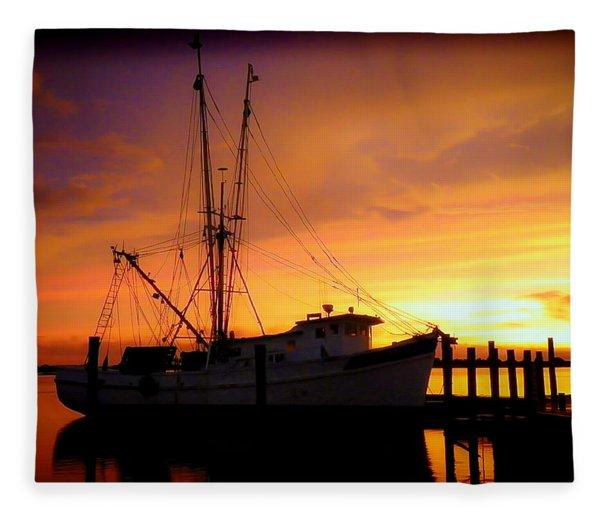 Carolina Morning Fleece Blanket
