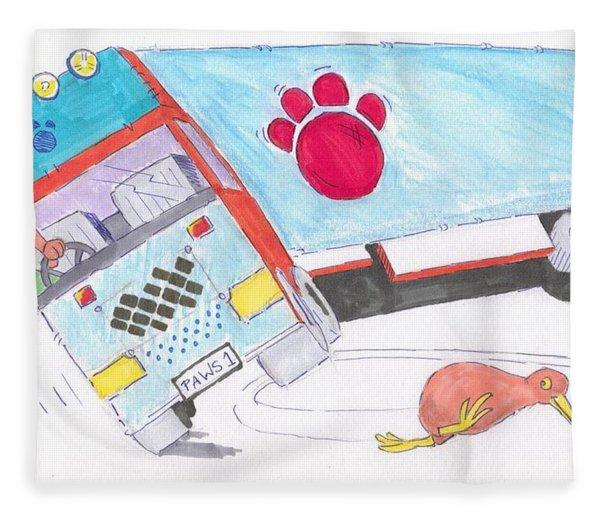 Cartoon Truck Lorry Fleece Blanket