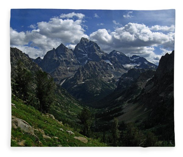 Fleece Blanket featuring the photograph Cascade Canyon North Fork by Raymond Salani III