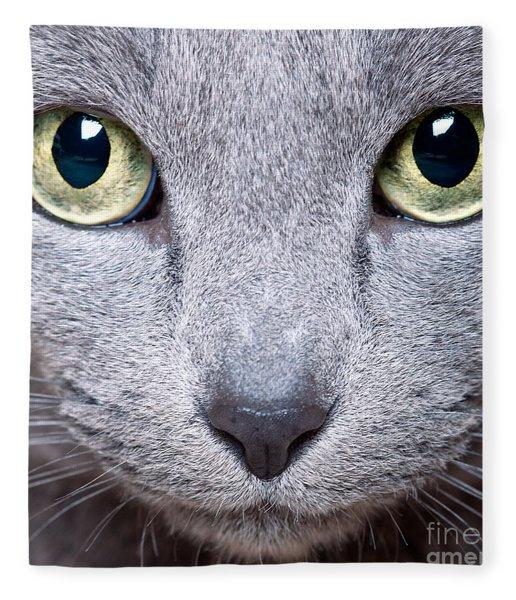 Cat Eyes Fleece Blanket