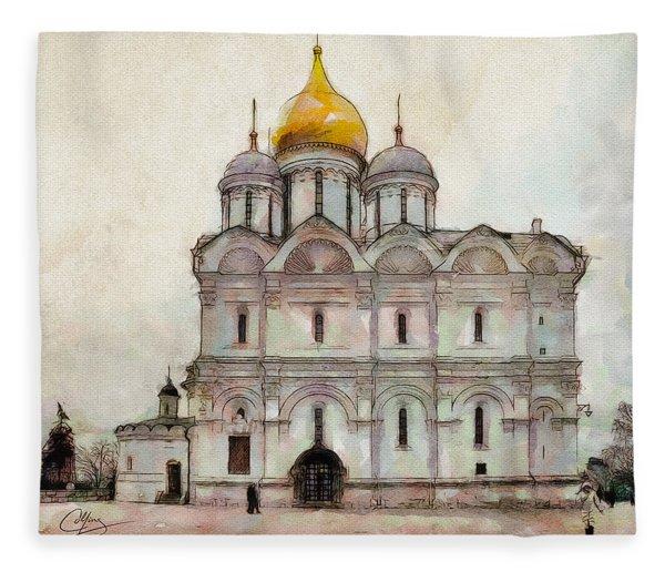 Cathedral Of The Archangel Fleece Blanket