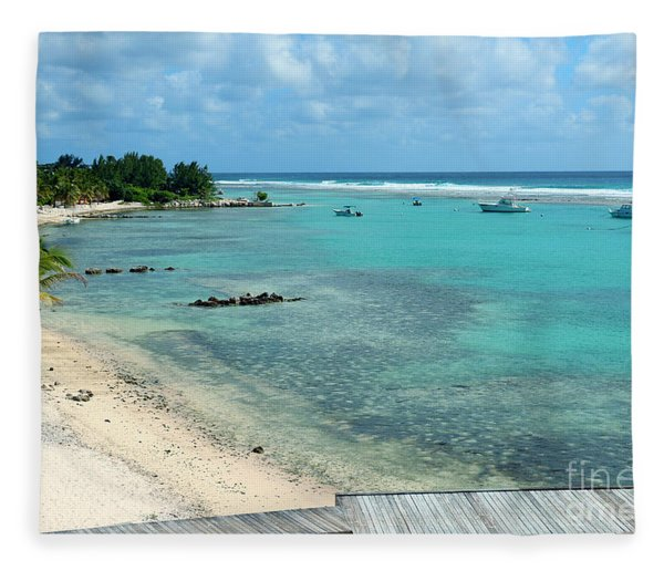 Cayman Beach Fleece Blanket