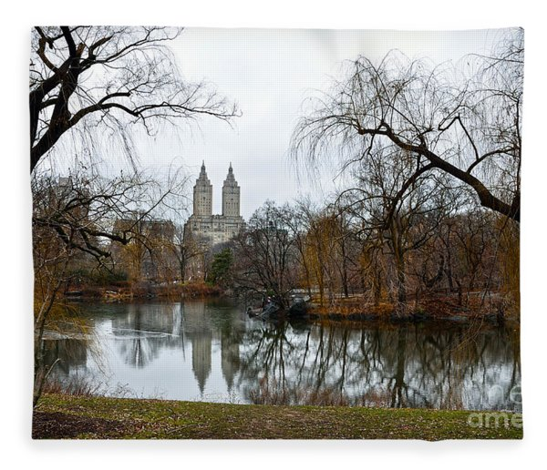 Central Park And San Remo Building In The Background Fleece Blanket