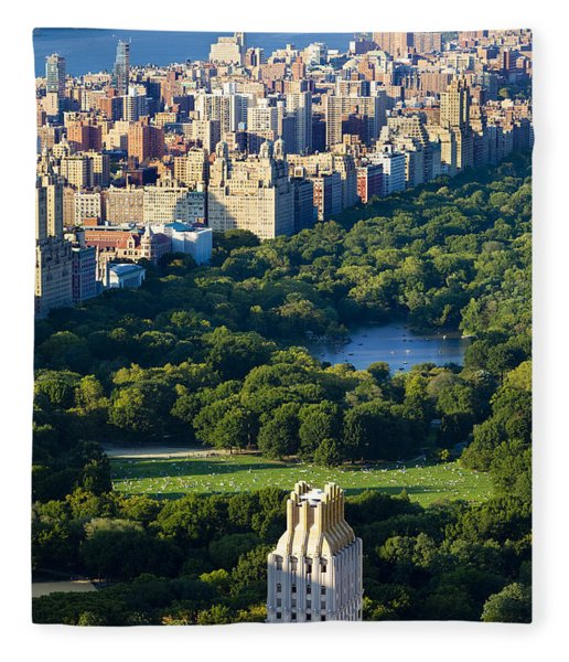 Fleece Blanket featuring the photograph Central Park by Brian Jannsen