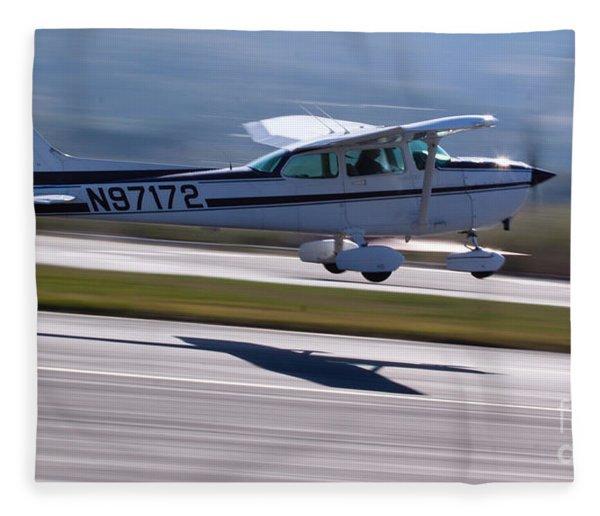 Cessna Takeoff Fleece Blanket