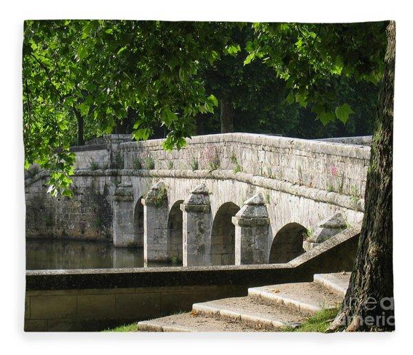 Chateau Chambord Bridge Fleece Blanket