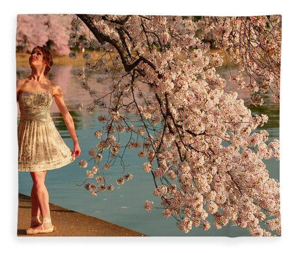 Cherry Blossoms 2013 - 082 Fleece Blanket