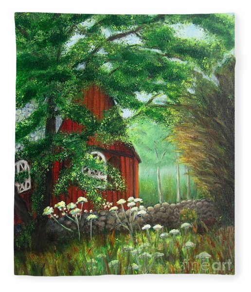 Church In The Glen Fleece Blanket