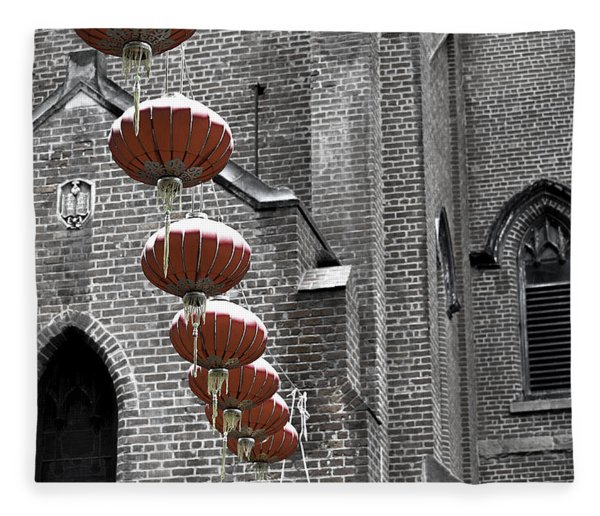 Church Lanterns Fleece Blanket