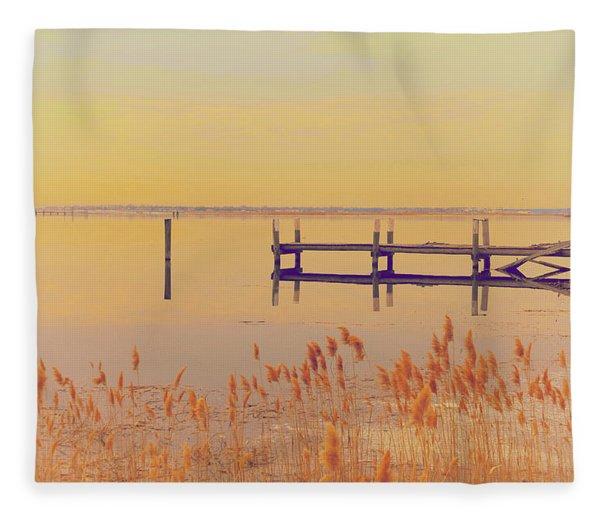 Coastal Winter Fleece Blanket