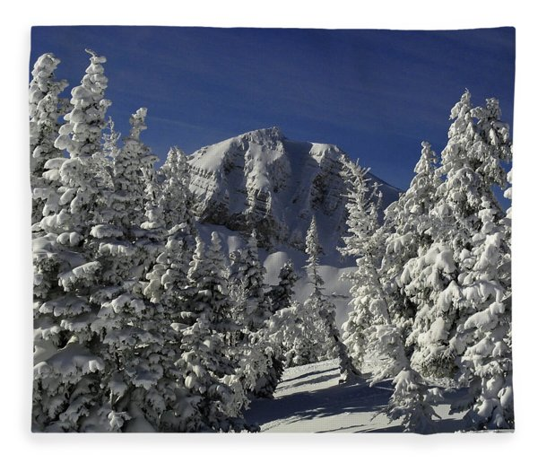 Fleece Blanket featuring the photograph Cody Peak After A Snow by Raymond Salani III