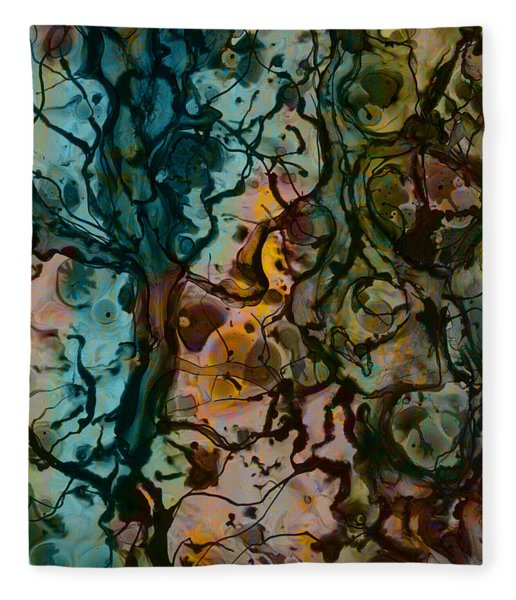 Color Abstraction Xvi Fleece Blanket