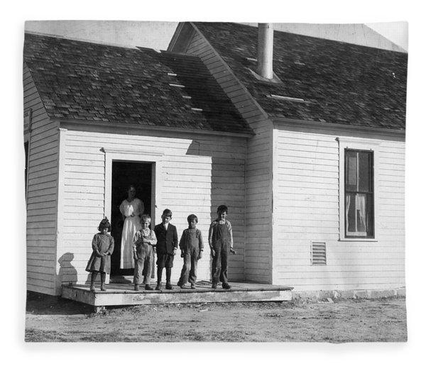Colorado Schoolhouse, 1915 Fleece Blanket