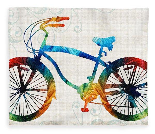 Colorful Bike Art - Free Spirit - By Sharon Cummings Fleece Blanket