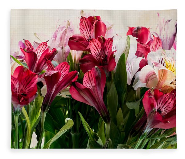 Colorful Peruvian Lillys Fleece Blanket