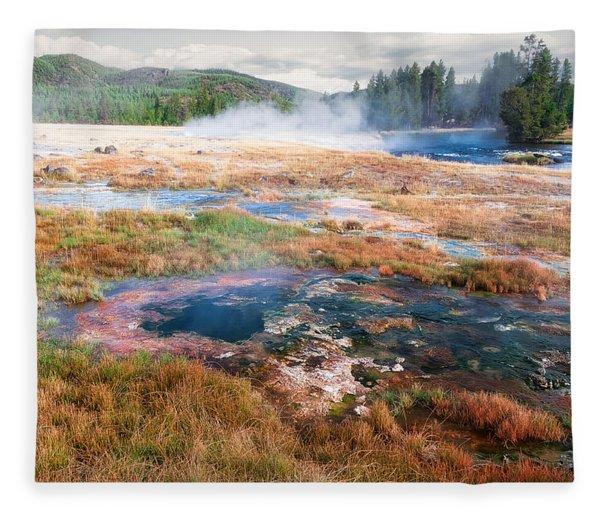 Colorful Waters Fleece Blanket