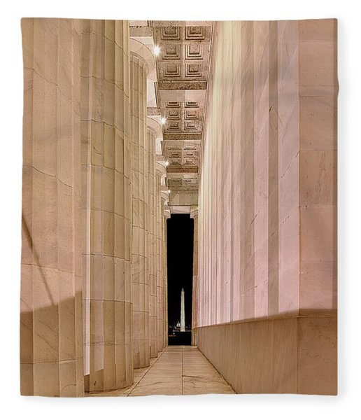 Columns And Monuments Fleece Blanket