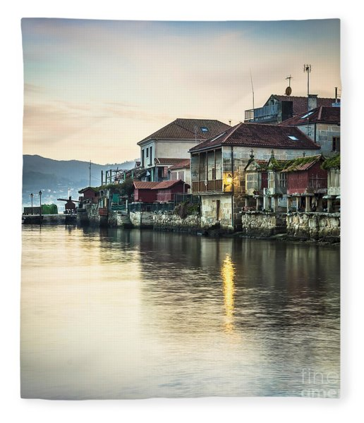 Combarro Pontevedra Galicia Spain Fleece Blanket