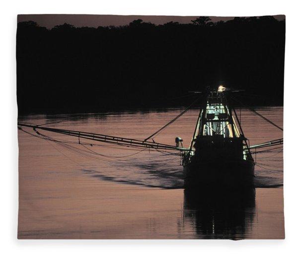 Commercial Fishing Fleece Blanket