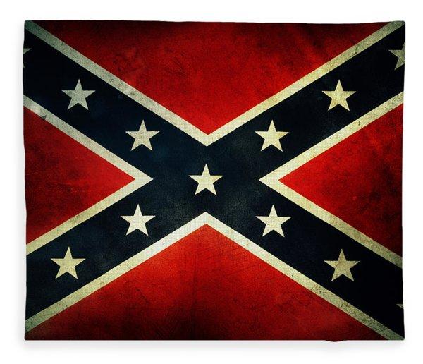Confederate Flag 4 Fleece Blanket