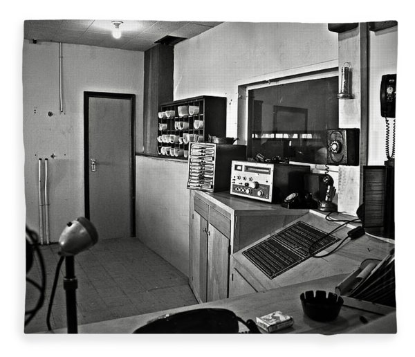 Control Room In Alcatraz Prison Fleece Blanket