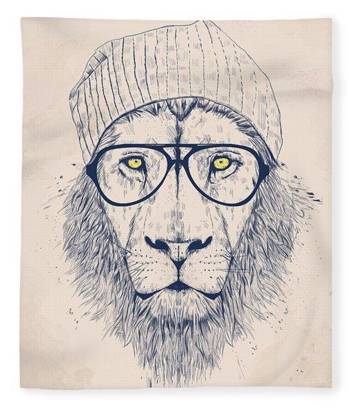 Cool Lion Fleece Blanket