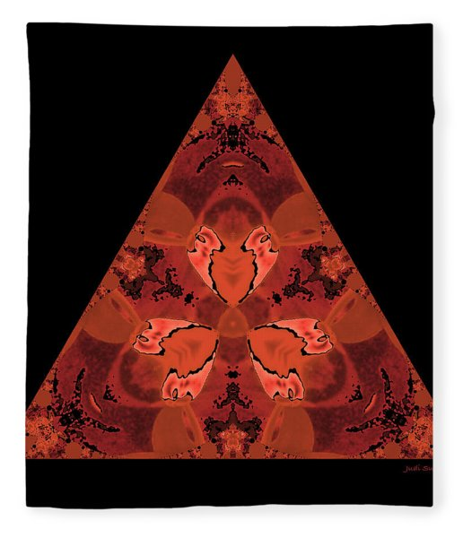 Copper Triangle Abstract Fleece Blanket