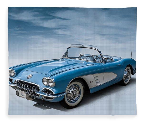 Corvette Blues Fleece Blanket
